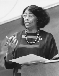 Wilkinson became the first full-time female African-American faculty member at UK. Photo courtesy of UK Special Collections.